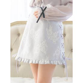 Flowerレーススカート (グレー)