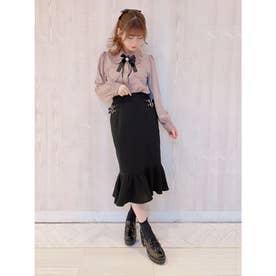 ハートバックルマーメードスカート (ブラック)