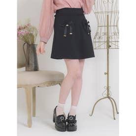 ハートポケット台形スカート (ブラック)