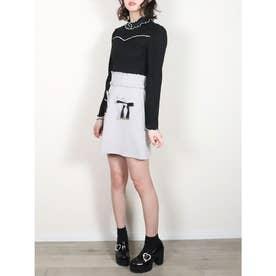 ハートポケット台形スカート (グレー)