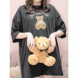 リボンベアーTシャツ (ブラック)