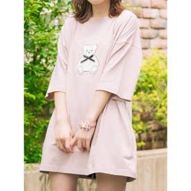 リボンベアーTシャツ (ピンク)
