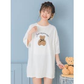 リボンベアーTシャツ (ホワイト)