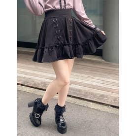 ダルメ柄ボリュームスカート (ブラック)