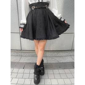 ハートバックルスカート (ブラック)