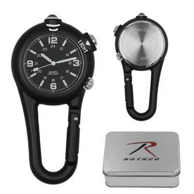 #4500 クリップウォッチ CLIP WATCH W/LED LIGHT (Black.ブラック)