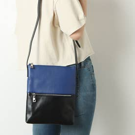 Bicolore(ビコローレ) 斜め掛けショルダーバッグ (BLUE/BLACK)