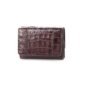 Henglong croco(ヘンローンクロコ)コンパクト折財布 (BURGUNDY)