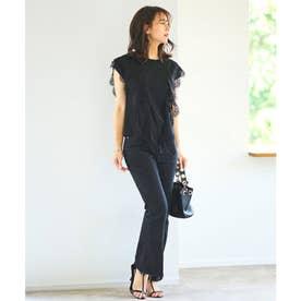 スウィングレースフレンチスリーブTシャツ (ブラック)