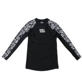 RVCA/UVケアラッシュガード BB041-892 (ブラック系その他)