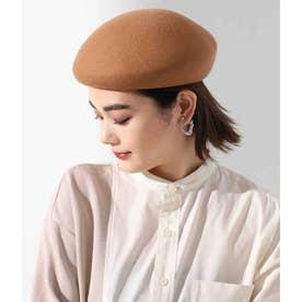 ウールアシンメトリーベレー帽(キャメル)