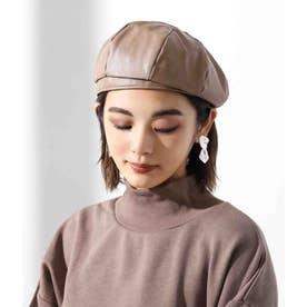 エコレザーベレー帽(モカ)
