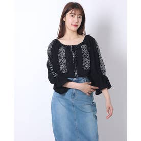綿100 長袖 トップス (ワンカラー)