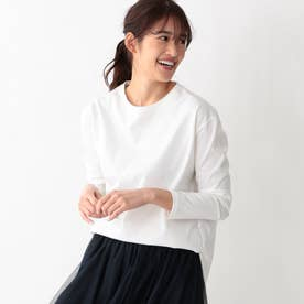 ラウンドテールロングスリーブTシャツ (ホワイト)