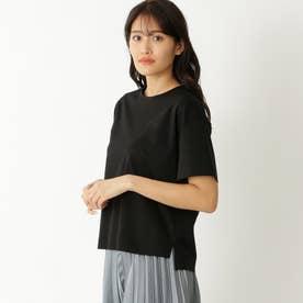 【ドレスTシャツ】クルーネックT (ブラック)