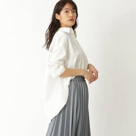 リラックスシルエットサテンシャツ (ホワイト)