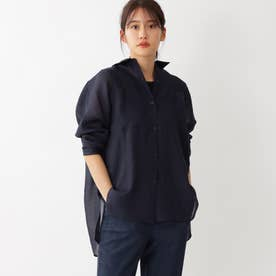 リネンライクシアーシャツ (ネイビー)