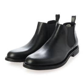 本皮チャッカ-ブーツ (BLACK)