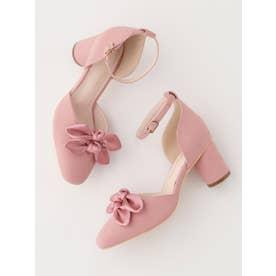 ダブルリボンパンプス (ピンク)
