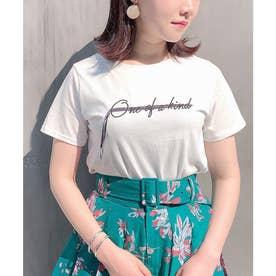 テープシシュウTシャツ (オフホワイト)