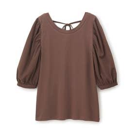 ボリュームスリーブTシャツ (ブラウン)