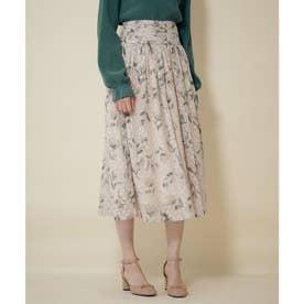 ドビービンテージフラワータックギャザースカート (オフホワイト)