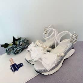 EV ribbon sandal (ホワイト)