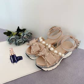 EV ribbon sandal (ベージュ)