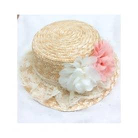 DBflowerlace帽 ホワイト