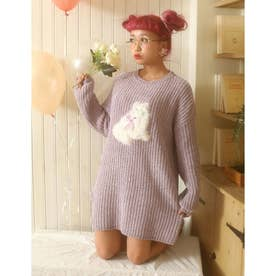 HB meow knit O/P (ラベンダー)