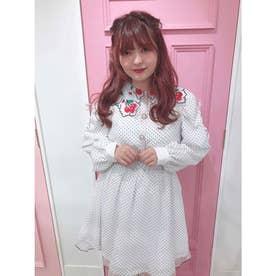 HS dot cherry O/P (ホワイト)