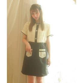 TS tweed×leather O/P (ホワイト)