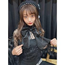 NV ribbon lace TOPS (ブラック)