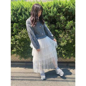 HB tulle knit o/p (グレー)