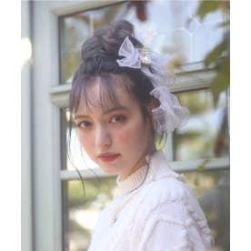 SX ribbon tulle barrette (ホワイト)