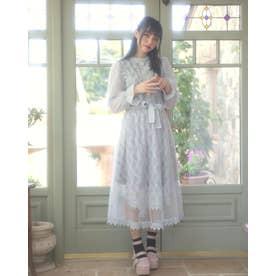 TS fuwa lace O/P (サックス)