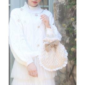 HB knit ribbon bag (ホワイト)
