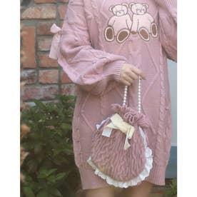 HB knit ribbon bag (ピンク)