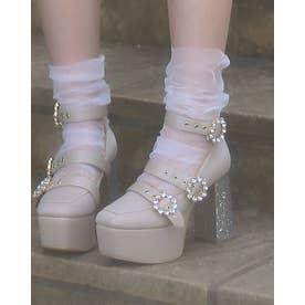 EV 3bijou heels (ベージュ)