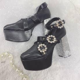 EV 3bijou heels (ブラック)
