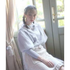HB flower bijou knit (グレー)