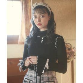HB mellow knit tops (ブラック)