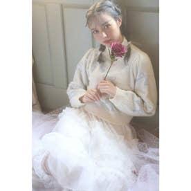 HB many ribbon knit (サックス)