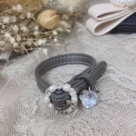 SG leather bangle (ダークグレー)