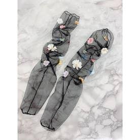 SX fleurs socks (ブラック)