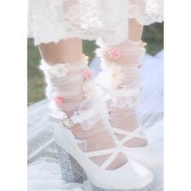 SX fleurs socks (ホワイト)