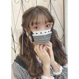 SX gingham mask (ブラック)【返品不可商品】