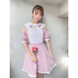 TS flower stitch O/P (ピンク)