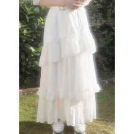 TS cotton frill LS/K (ホワイト)