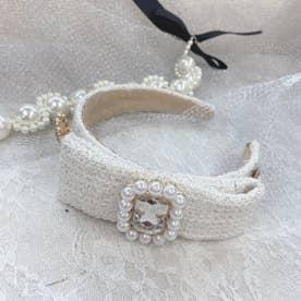 SX elegant tweed カチューシャ (ホワイト)
